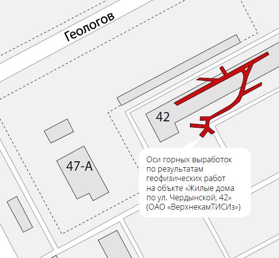 Карта заброшенных шахт под городом Пермь