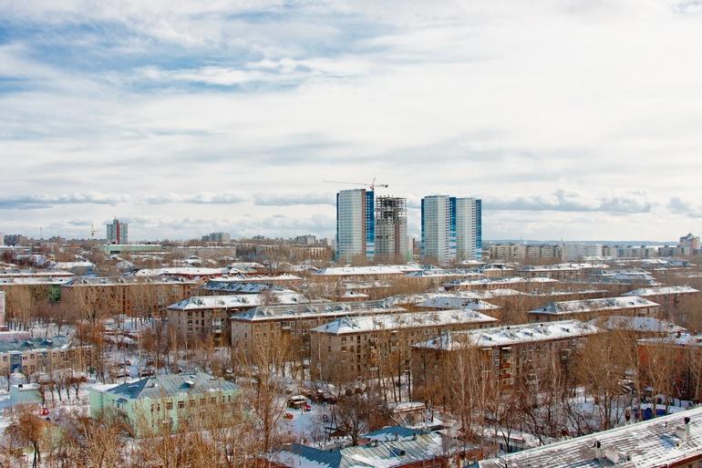 Панорама города Пермь