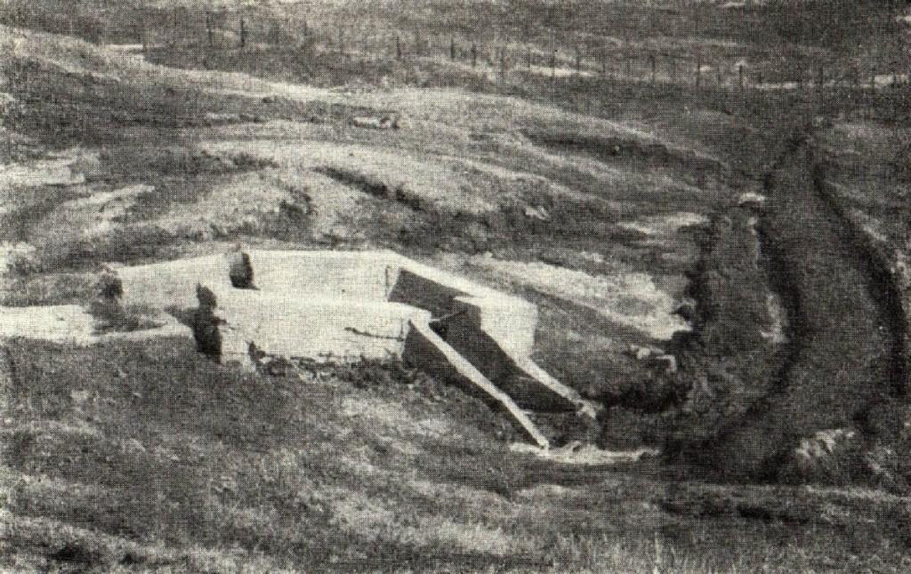 Разрушенный бетонный лоток (фото И.С. Рогозина, 1958 год, г. Ульяновск)