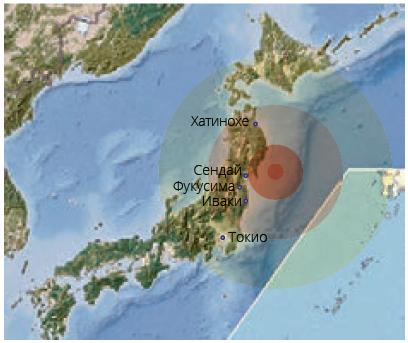 Карта эпицентра землетрясния