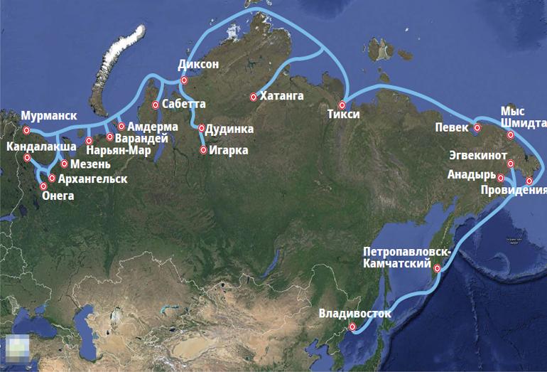 Маршрут Северного морского пути