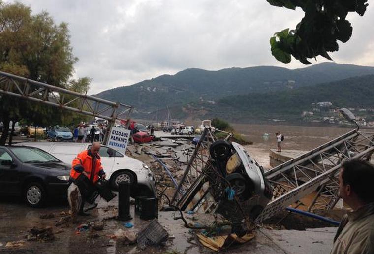 Наводнение на острове Скопелос