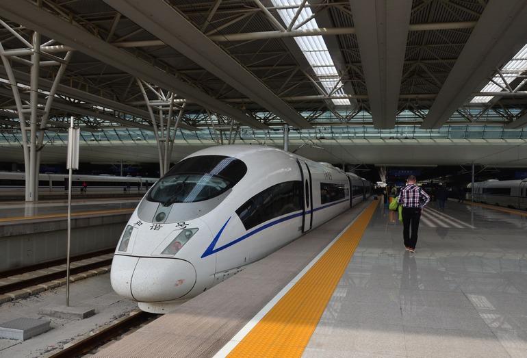 Самый скоростной поезд ВСМ Пекин–Шанхай G1