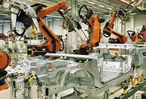 Роботизированный цех сборки автомобилей