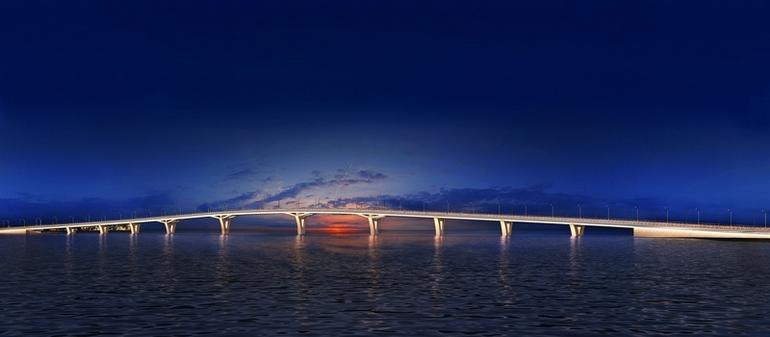 Проект моста через Большую Невку в Санкт-Петербурге