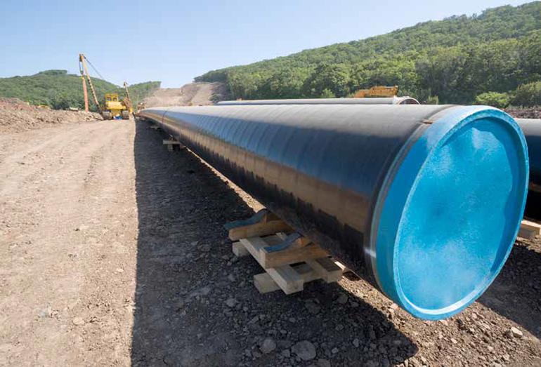 Прокладка газапровода