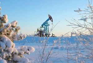 Нефтяная вышка за Полярным кругом