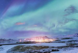 Северное сияние в Российской Арктике