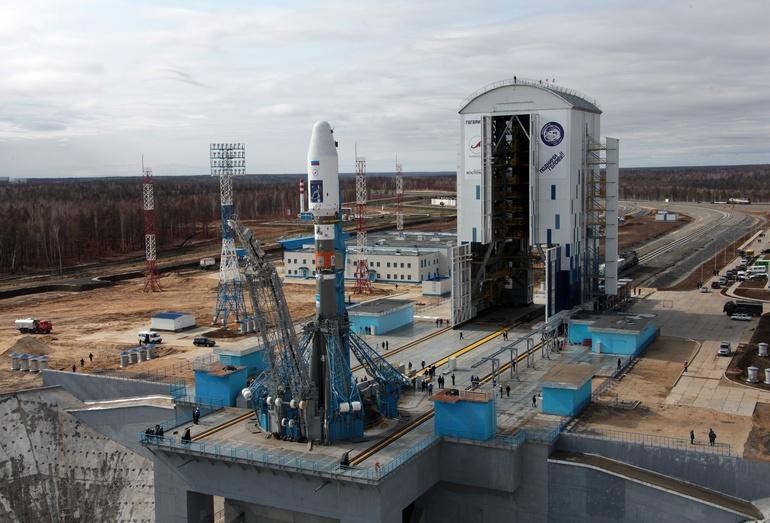 Радкета на стартовой площадке космодрома Восточный