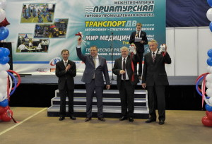 Участники транспортной выставки в Хабаровске 2015 года