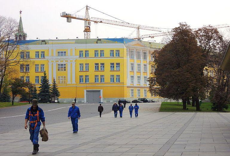 14 корпус Кремля в процессе реконструкции, 2014 год