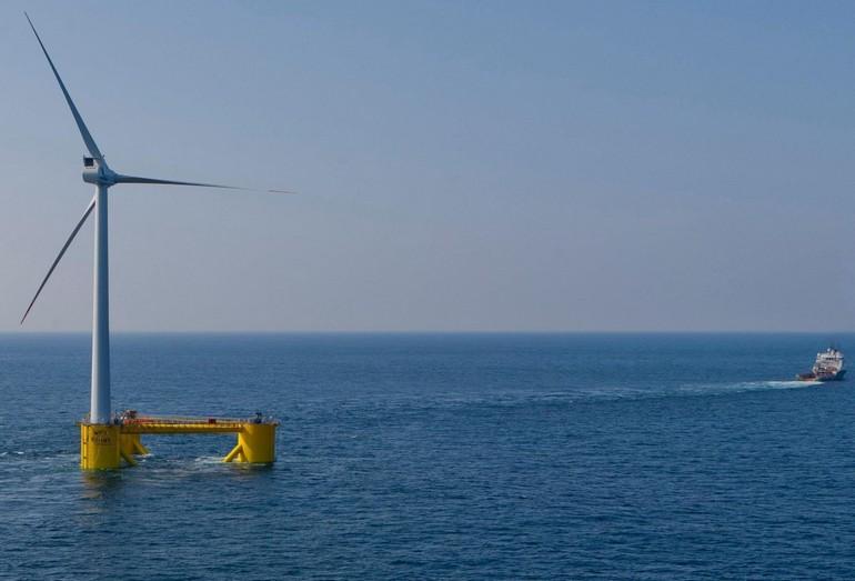 Ветрогенератор на плавучей платформе WindFloat