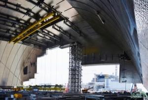 Строительство Арки НБК на Чернобыльской АЭС