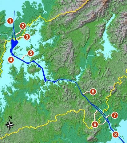 Элементы строительства третей линии шлюзов Панамского канала