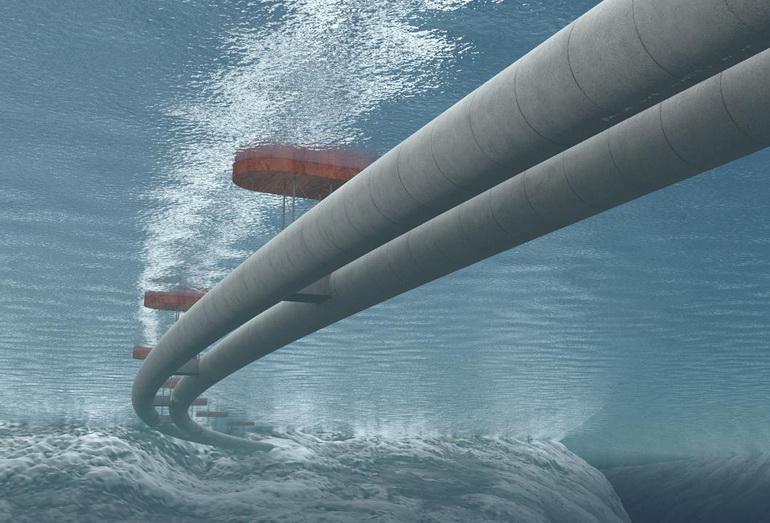Первый в мире погружной плавучий туннель