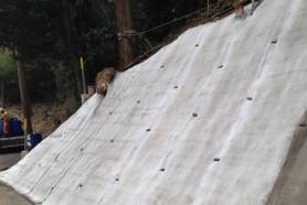 Покрытие из бетонного холста для укрепления склона