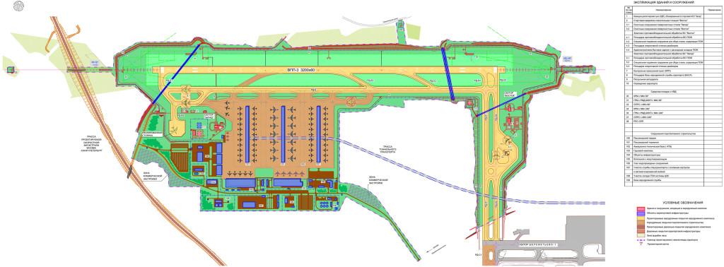 Схема территории взлетно-посадочной полосы международного аэропорта «Шереметьево» (ВПП-3)