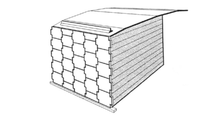 Схема устройства подпорной стенки по технологии Терре Арме