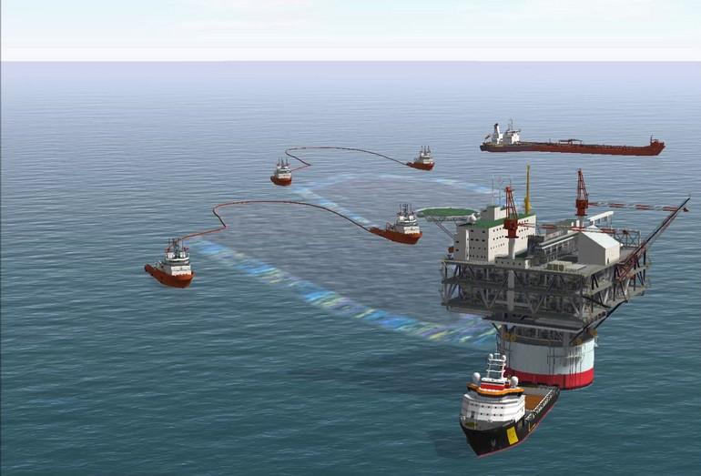 Тренажер NTPRO 5000 со встроенным модулем работы с оборудованием по ликвидации разливов нефти может смоделировать любую ситуацию в отношении типа разлива, участвующих в ликвидации судов, погоды и места происшествия