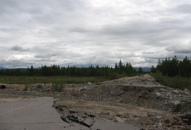 Состояние насыпи после прохождения паводка