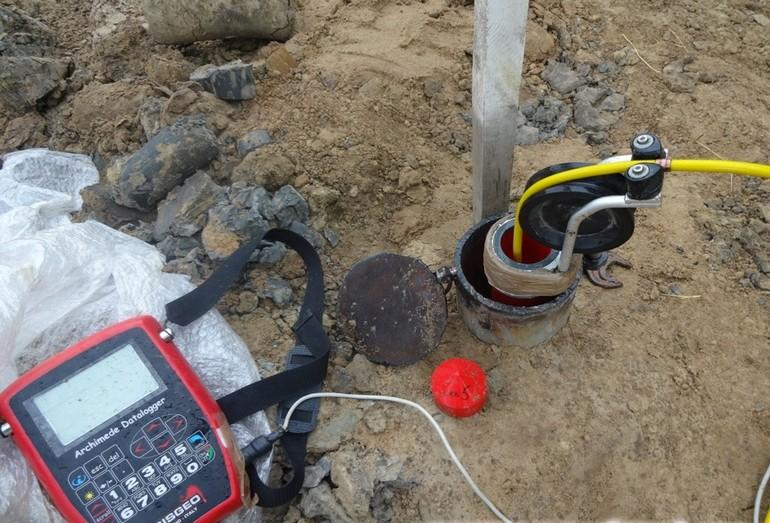 Измерительная аппаратура для контроля оползневых деформаций в массивах грунтов.