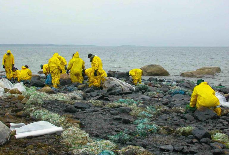Ликфидания разлива нефти на побережье