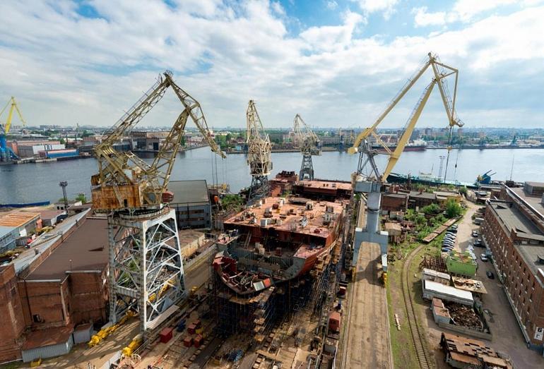 Строительство корпуса ледокола Арктика проекта 22220