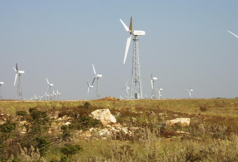 Ветряки Тарханкутской ВЭС в Крыму