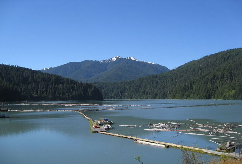 Панорама реки Элка в США
