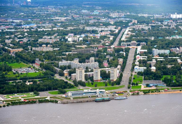 Панорама Комсомольска-на-Амуре