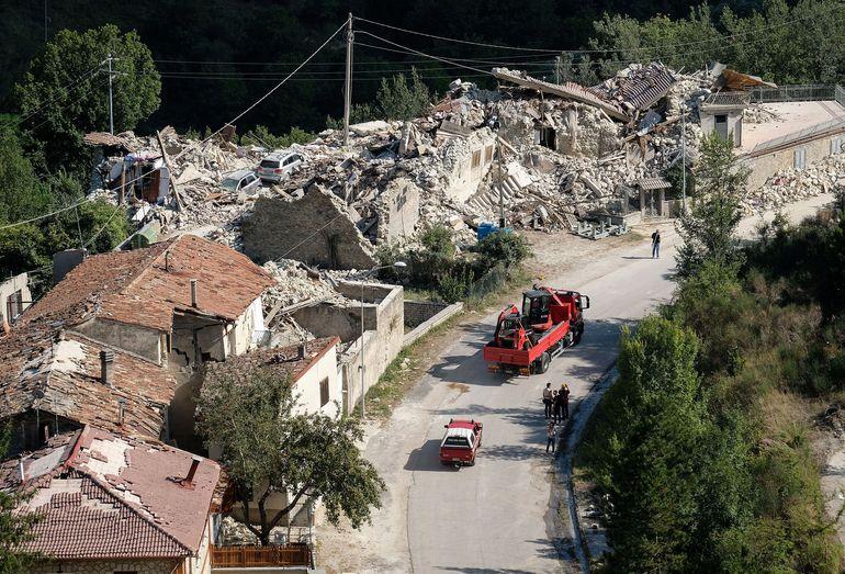 Последствия землетрясения в Аматриче, Италия, 2016 год.